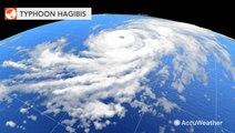 Powerful Hagibis churns toward Japan