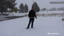How does the National Weather Service measure snow?