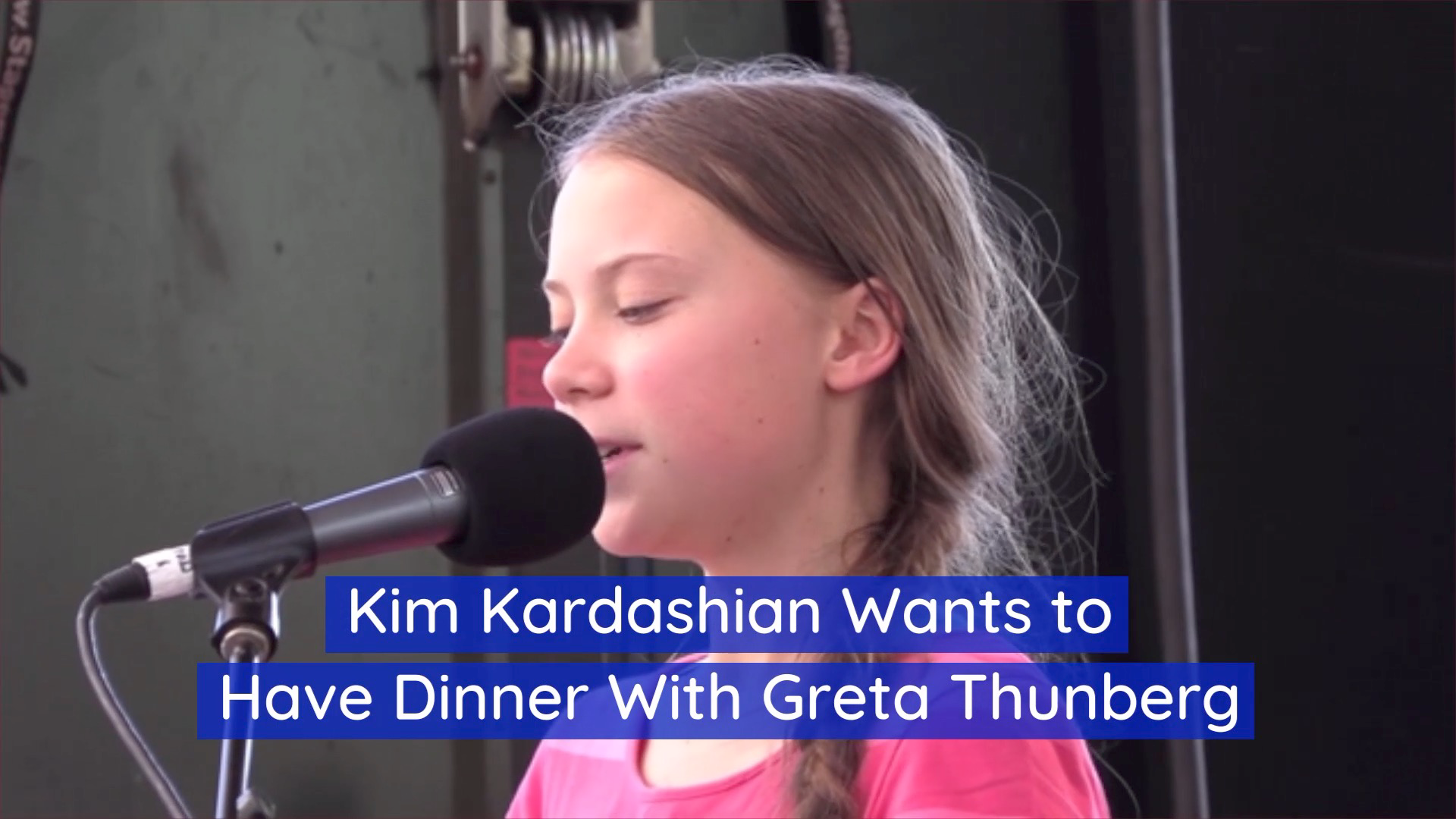 A Dinner With Greta Thunberg And Kim Kardashian