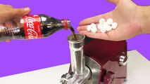 EXPERIMENT - MEAT GRINDER VS MENTOS AND COCA COLA !