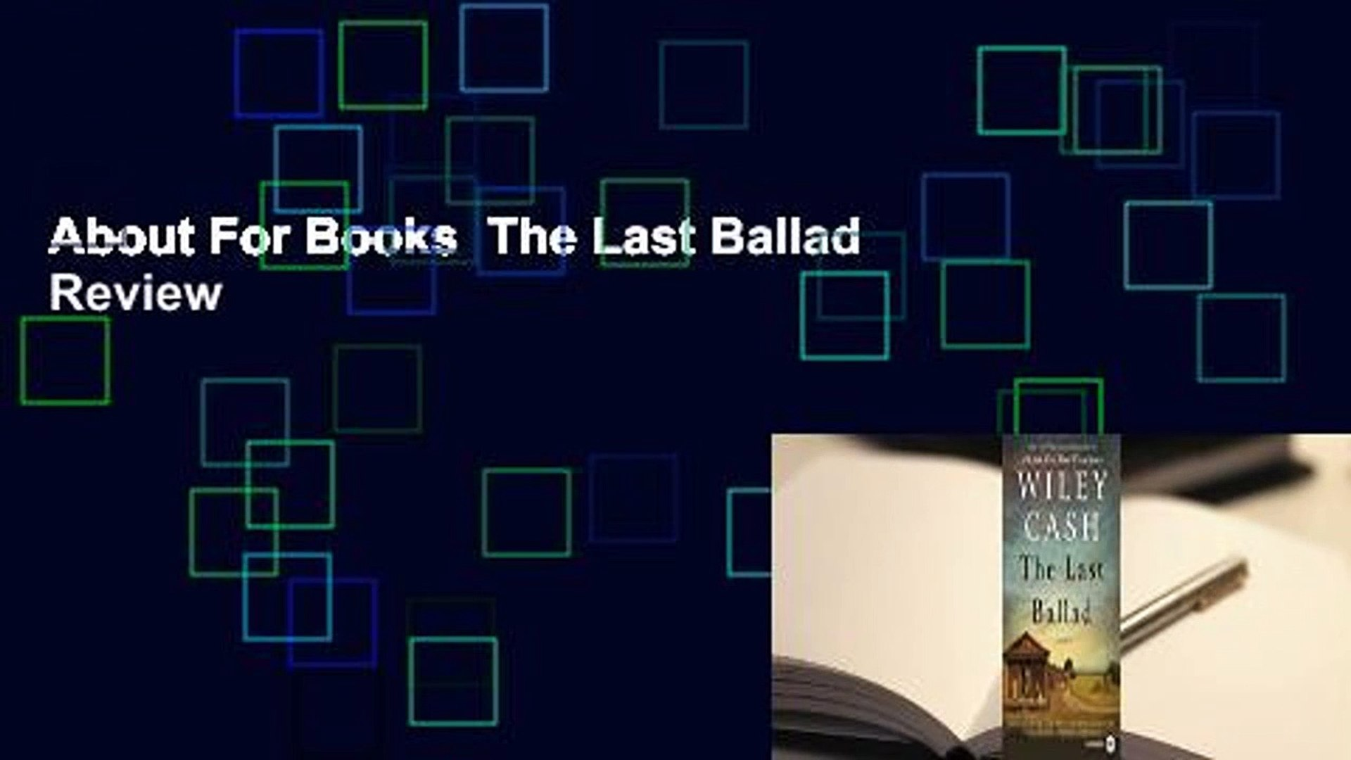 About For Books  The Last Ballad  Review