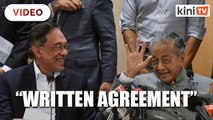 Anwar: There is a written agreement on PM succession