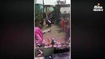 दुर्गा प्रतिमा तोड़े जाने के विरोध में सांप्रदायिक तनाव