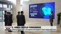 President Moon vows to build S. Korea into world's strongest display powerhouse