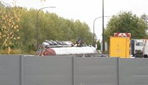 Camion accidenté sur la E19