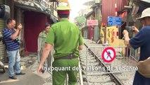 """Les touristes déçus de la fermeture de la """"rue du train"""" à Hanoi"""