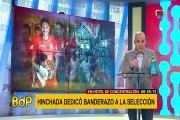 Perú vs Uruguay: el emotivo 'banderazo' a la selección con Paolo Guerrero