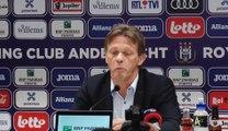"""Franck Vercauteren: """"Il n'y a qu'une seule vision"""" à Anderlecht"""