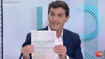 """Albert Rivera exige en toda la jeta del Lechero Fortes la dimisión de Rosa María Mateo y dice que TVE es """"Tele-Sánchez"""""""