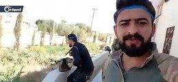 """شاهد.. اللحظات الأولى لسيطرة فصائل """"الجيش الوطني"""" قرى تل أبيض (فيديو)"""