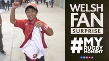 Fan gets Dan Biggars shorts after Wales v Fiji!  MyRugbyMoment
