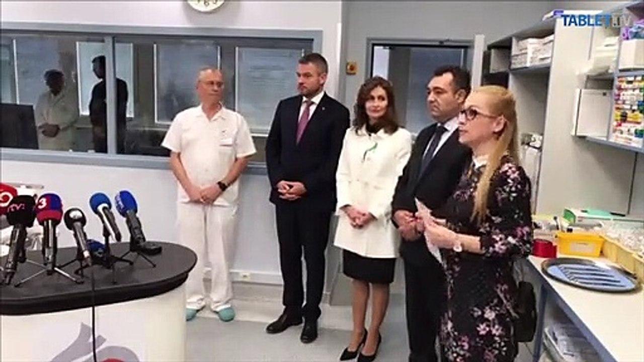 ZÁZNAM: Ministerka zdravotníctva SR Andrea Kalavská a predseda vlády SR Peter Pellegrini v NÚSCH