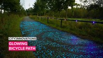 City Innovations: Let this Van Gogh inspired bike path light your way