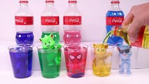 PJ Masks Transform Into Spiderman Talking Tom And Learn Colors Coca Cola Bottles Toys For Kids