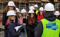 Des collégiens dans les coulisses du chantier de la piscine de Cernay