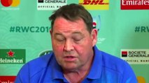 Rugby - World Cup 2019 - Press Conference by Steve Hansen after the game against Italy has been cancelled