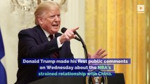 President Trump Criticizes Steve Kerr and Gregg Popovich in NBA China Controversy