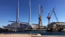 """La Ciotat : le super yacht """"A"""" dans les chantiers navals"""