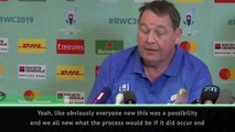 Cancelling Rugby World Cup games a 'no-brainer' - Hansen
