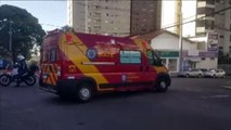 Homem que sofreu queda na Rua Veneza é encaminhado em estado grave ao Hospital São Lucas