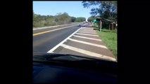 Vídeo: Mesmo estando em movimento e escoltado, caminhão é saqueado