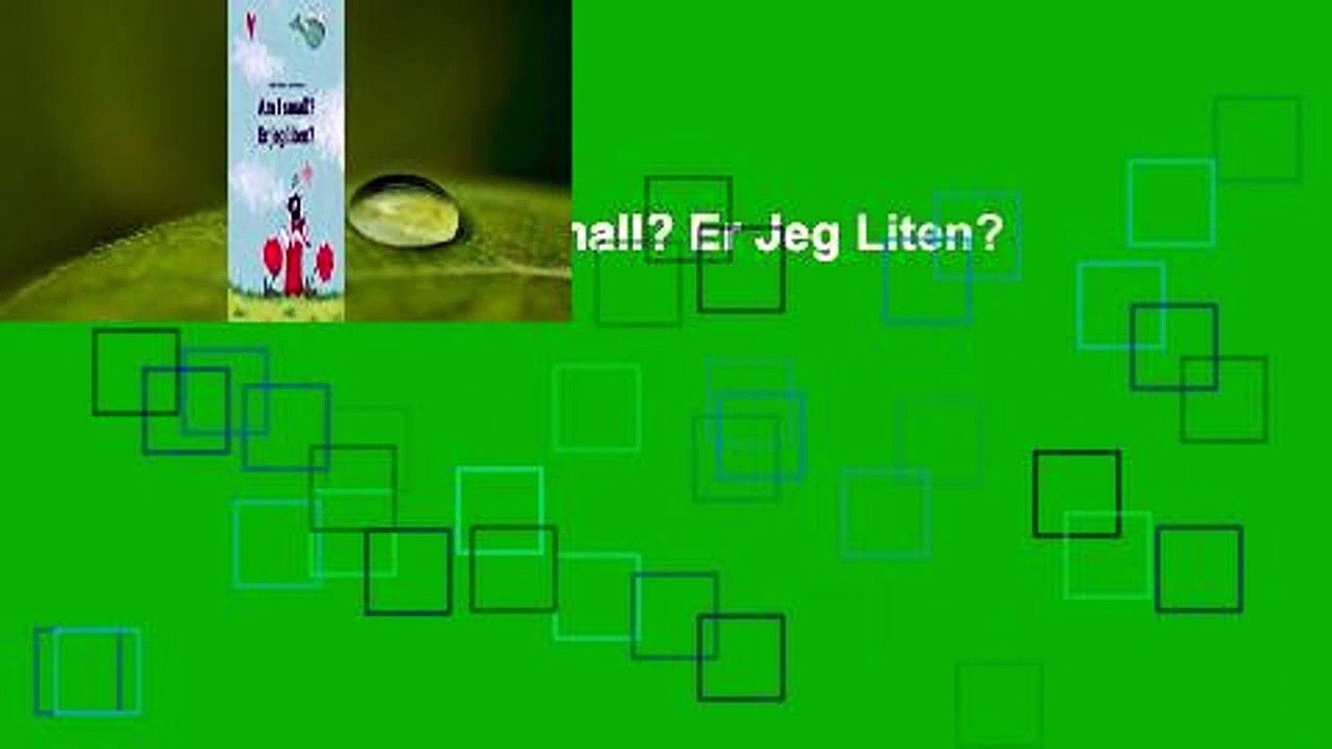 Er jeg liten? Childrens Picture Book English-Norwegian Am I small Bilingual Edition