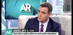 La loquísima respuesta de Pedro Sánchez sobre Errejón a una pregunta nada convencional de Ana Rosa