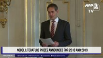 Nobel Literature Prizes announced for 2018 and 2019