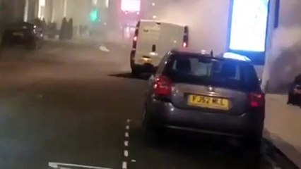 Watch the moment smoke billows from Homeless Street Angels van on Leeds Light Night