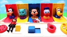 Disney Pop Up Toy Surprises Incredibles 2 MASHEMS Learn Colors Numbers For Kids!