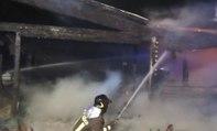 Senigallia (AN) - Brucia stabilimento balneare in località Marzocca (11.10.19)