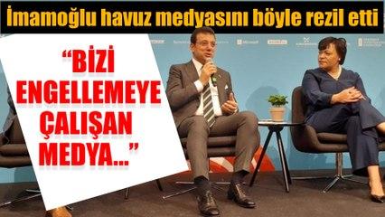 Ekrem İmamoğlu uluslararası toplantıda havuz medyasını böyle rezil etti