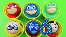 PJ Masks Toys Playdoh Surprise Cups! Disney Toy Balls Learn Colors Numbers For Kids!