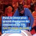 Paul, le 2ème plus grand champion des 12 Coups de Midi, éliminé après 153 participations