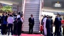 शी जिनपिंग का चेन्नई एयरपोर्ट पर भव्य स्वागत