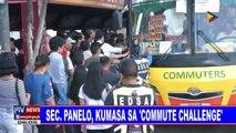 Sec. Panelo, kumasa sa 'commute challenge'
