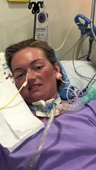 Watch the moment East Lothian personal trainer Mekala Osborne  wakes up from induced coma in Singapore