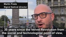 Prague Signal light festival celebrates Velvet Revolution