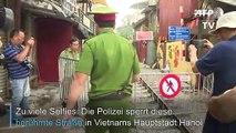 Zu viele Selfies: Touri-Bahnstrecke in Hanoi gesperrt