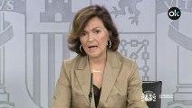 Carmen Calvo anuncia la fecha de la exhumación de Franco