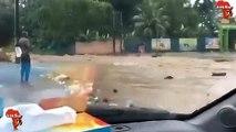 Le carrefour du Zoo d'Abidjan inondé