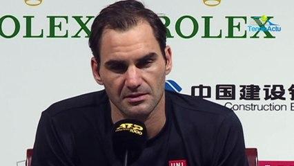 "ATP - Shanghai 2019 - Roger Federer lost : ""Stefanos Tsitispas and Sascha Zverev, they are great !"""