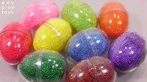 Learn Colors Surprise Slime Egg Toys Slime Glitter Glue Water Balloons Fidget Toys For Kids
