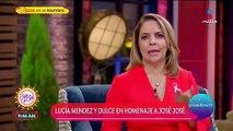 Lucía Méndez y Dulce aclaran motivo de sus risas durante el homenaje a José Jose