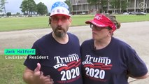 Thousands Line Up for Trump Rally in Louisiana