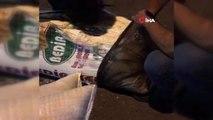 Un çuvalında 2 bin 550 paket kaçak sigara ele geçirildi