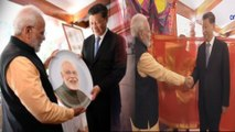 Modi Xi Jinping Express admiration by exchanging Gifts. Know the Gifts exchanged-வீடியோ