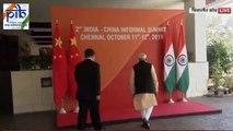"""مودي يعلن أمام شي جينبينغ عن """"حقبة جديدة"""" بين الهند والصين"""