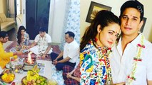 Prince Narula & Yuvika Chaudhary celebrate first wedding anniversary with havan | FilmiBeat