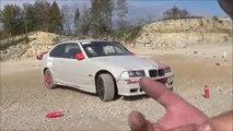 - BMW E 36  - COMPACT  délire en voiture - n 1 -passage des 4 X 4 - vive la glisse jurassienne